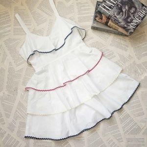 NOWT WAYF Trento Tiered Open Back Mini Dress